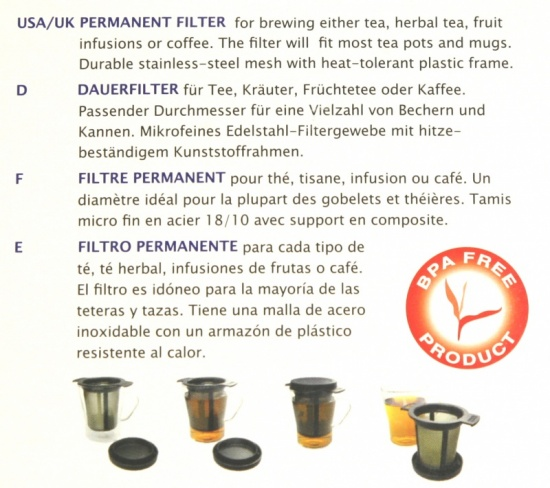 Finum Permanent Filter, Brewing Basket M, Black